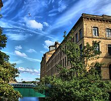 salts mill saltaire west yorkshire nr bradford  by simon sugden