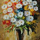 SUMMER BOUQUET - LEONID AFREMOV by Leonid  Afremov