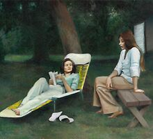 A Backyard Chat by dbclemons