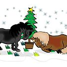 Mini Shetland Christmas card by Diana-Lee Saville
