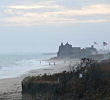 Misty Beach at Dusk - After Hurricane Irene  by Jack McCabe