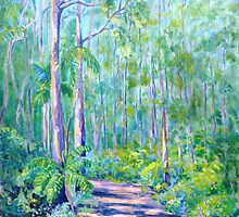 Carricks Road Springbrook  by Virginia McGowan