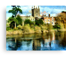 Beautiful Britain - Hereford Cathedral Canvas Print
