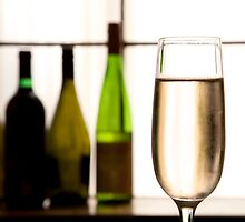 Glass of Champagne by Charlotte Lake