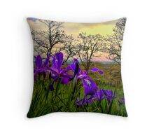 Wild Beauty ~ Wild Iris ~ Throw Pillow