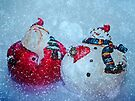 Santa and Frosty by Denise Abé