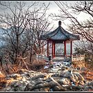 Gazebo on the Great Wall by Psycoticduck
