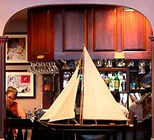 Restaurant Sailing Ship View By Jonathan Green by Jonathan  Green