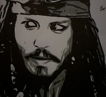 Johnny Depp aka Capt Jack Sparrow by chrisjh2210