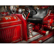 Fireman - Fire Engine No 3 Photographic Print