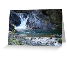 Starved waterfall Greeting Card