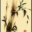 &quot;Calm&quot;  Sumi e bamboo painting by Rebecca Rees