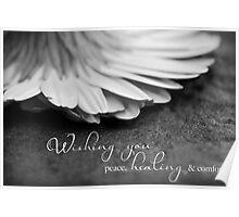 Peace, Healing & Comfort Poster