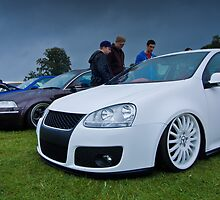 White MK5 Golf On Merc Rims by Adam Kennedy