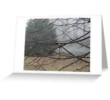 Fog Hangs Heavy Greeting Card