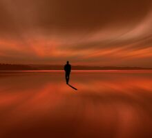 Walking at the beach 2 by Marlies Odehnal