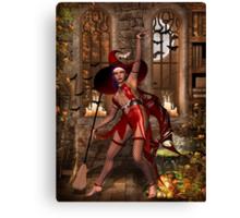 Cast a Halloween spell  Canvas Print