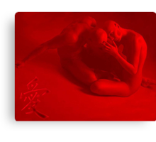 Red couple Canvas Print