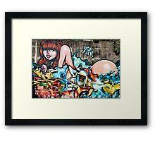 Plunged in Graffiti Framed Print