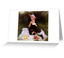 Teacup Pig Greeting Card