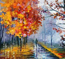 OCTOBER FOG - LEONID AFREMOV by Leonid  Afremov