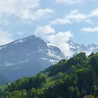 """Inspiring"" Mountain Range of Champoussin, Switzerland by Anita  Fletcher"