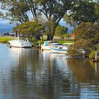 Boats on the Denmark River, Denmark, Western Australia by Elaine Teague