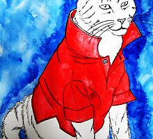 Popped Collar Cat by annabe11e5