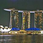 Night in Singapore by Adri  Padmos