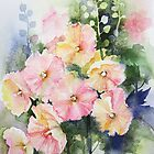 Hollyhocks by artbyrachel
