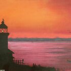 lighthouse at sunset by Dan Wagner