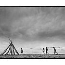 Oregon Beach Teepee by maryanne gobble