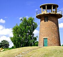 Tower Windmill at Staunton Harold Reservoir by Rod Johnson