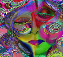 Max Fractal Woman,Psychedelic Pop Art by Alma Lee by Alma Lee