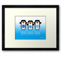 PENGUINS 2  (ART) Framed Print