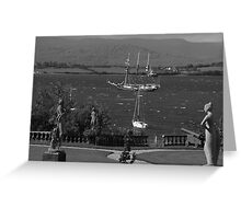bantry bay in,blustery black and white Greeting Card