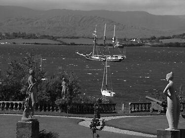 bantry bay in,blustery black and white by TudorSaxon