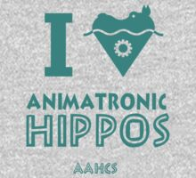 I Heart Animatronic Hippos (AAHCS) Kids Clothes