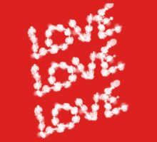 LOVE LOVE LOVE (White) Tee shirt/Baby grow by Shoshonan