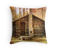 Cabin in Elk County Throw Pillow