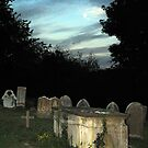 Moonrise in the Graveyard by Paul Holman