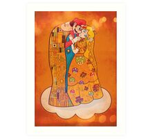 Just Before The Kiss Art Print