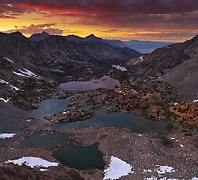 Bishop Pass Sunset by Nolan Nitschke
