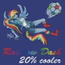 20% Cooler, Rainbow Dash Playing Soccer by ZowieBlaze