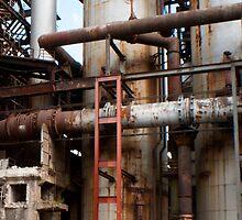 An old steelmill... by Rene Fuller