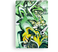 Abstract Graffiti fragment on the textured wall Canvas Print
