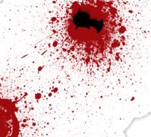 Bloody Bullet Holes Sticker