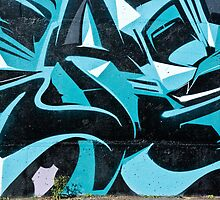 Abstract Blue Graffiti by yurix