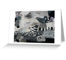 Cafe Del Mar in Black and White Greeting Card