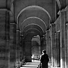 Lady walking through Parisian archways, Paris by Elana Bailey